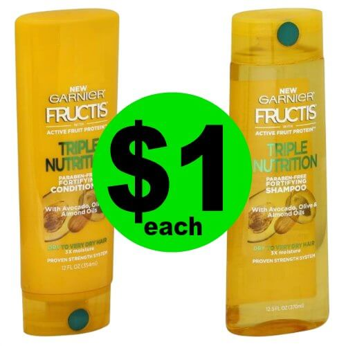 Print NOW to Score $1 Garnier Fructis Hair Care at CVS! (1/28 – 2/3)