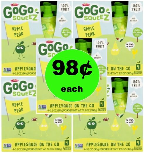 Kids Go Crazy for 98¢ GoGo Squeeze Fruit Pouches at Walmart!