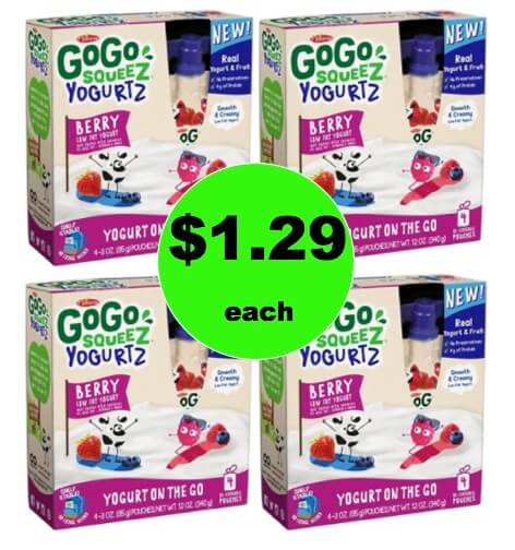 Snack Time! Get $1.29 GoGo SqueeZ Yogurt 4 Packs (Reg. $3) at Target! (Ends 2/8)