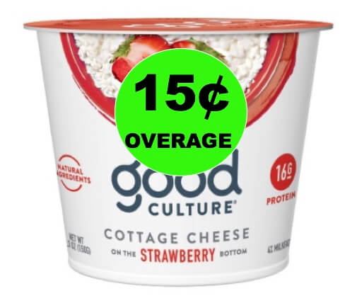 FREE + 15¢ Overage on Good Culture Cottage Cheese at Target (and Walmart Too)! (Ends 7/5)