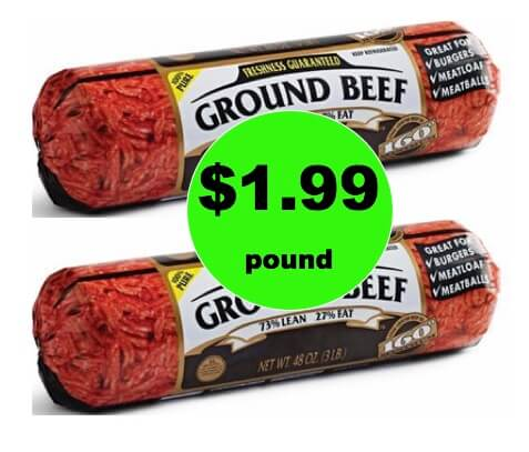 CHEAP MEAT! Pick Up 3 lb Ground Beef Rolls Only $1.99/lb at Winn Dixie This Weekend! (1/27 – 1/28 Only)