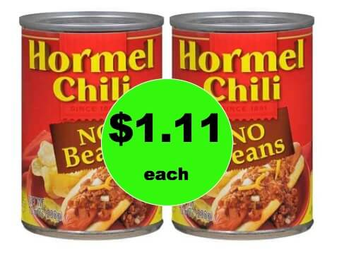 Warm Them Up with $1.11 Hormel Chili at Walgreens! (Ends 2/3)