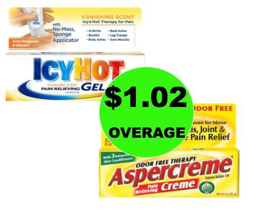 TWO (2!) FREE + $1.02 OVERAGE on Aspercreme or Icy Hot Pain Relieving Creme at Target! (Ends 1/17)