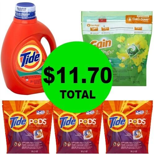 For Just $11.70, Get (1) Tide 100 oz Detergent, (1) Gain Flings & (3) Tide Pods at CVS ! (Ends 2/3)
