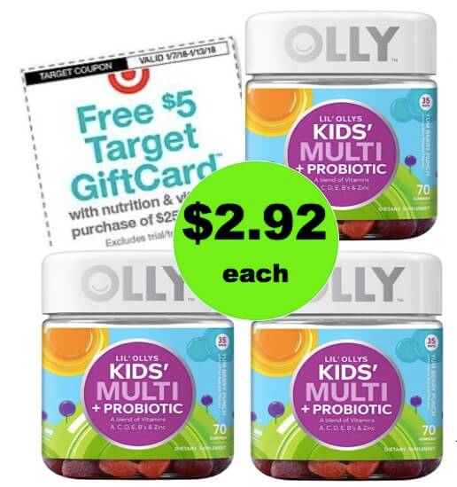For Just $8.77, Get THREE (3!) Olly Kids' Multi+Probiotic Gummy Vitamins (Save $17)! (Ends 1/13)