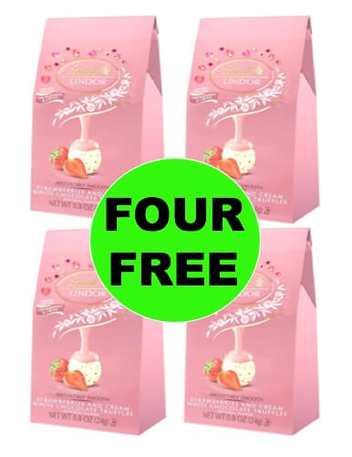 Four 4 Free Lindt Lindor Valentine S Day Mini Bags At Target At Walgreens Too
