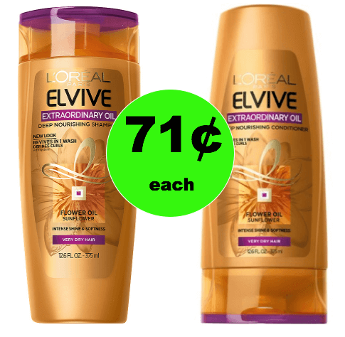 Bring Back the Shine with 71¢ L'Oreal Elvive Hair Care at Walgreens! (Ends 1/27)