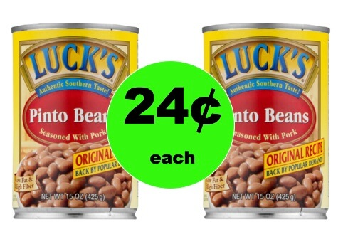 Pick Up TWO (2!) Cans of Luck's Pinto Beans Only 24¢ Each at Walmart!