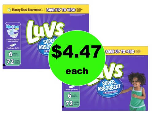 Oh Baby! Pick Up Luvs Diapers Only $4.47 at Walmart! (Ends 1/13)