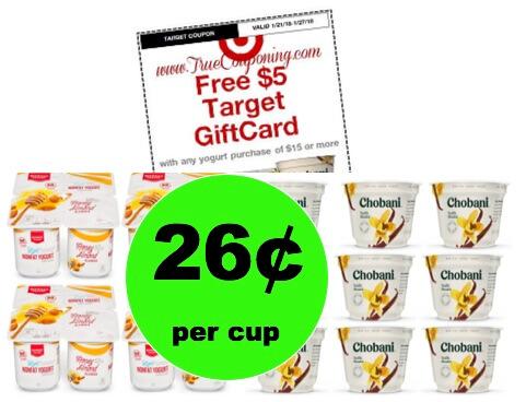 Enjoy Chobani & Market Pantry Yogurt JUST 26¢ Per Cup at Target! (Ends 1/27)