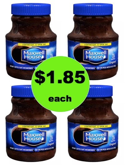 Wake Up Smiling with $1.85 Maxwell House Instant Coffee at Walgreens! (Ends 1/17)