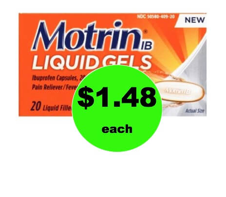 Get Relief with $1.48 Motrin IB at Walmart! (Ends 2/3)
