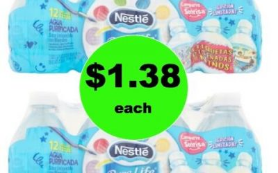 Drink Up with $1.38 Nestle Pure Life Water 12 packs at Walmart!