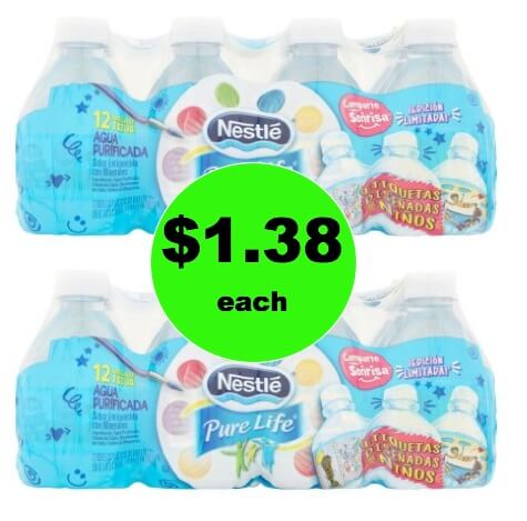 Drink Up with $1 38 Nestle Pure Life Water 12 packs at Walmart!