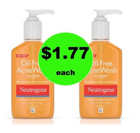 Say So Long to Acne with $1.77 Neutrogena Acne Wash at Walmart!