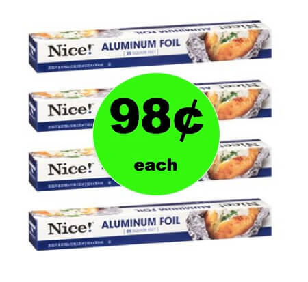 SUPER EASY Stock Up Deal with 98¢ Nice! Aluminum Foil at Walgreens! (Ends 2/3)