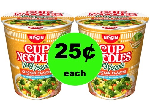 Pick Up Nissin Very Veggie Cup Noodles Only 25¢ Each at Winn Dixie! (Ends 1/23)