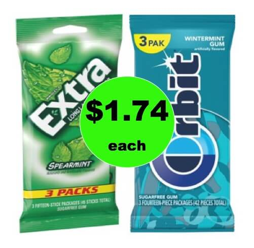 Keep Your Breath Fresh with $1.74 Orbit Gum 3 Packs (ONLY 58¢ Per Pack) at Walmart!