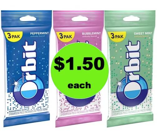 Stock Up with $1.50 Orbit or Extra Gum 3 Packs (ONLY 50¢ Per Pack) at Walgreens! (Ends 1/20)