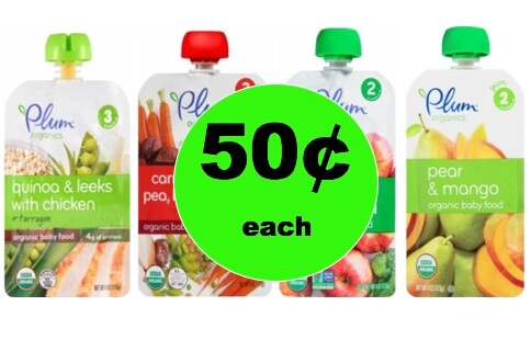 graphic regarding Plum Organics Printable Coupon referred to as Select Up 4 (4!) Plum Organics Kid Foodstuff Pouches Simply 50