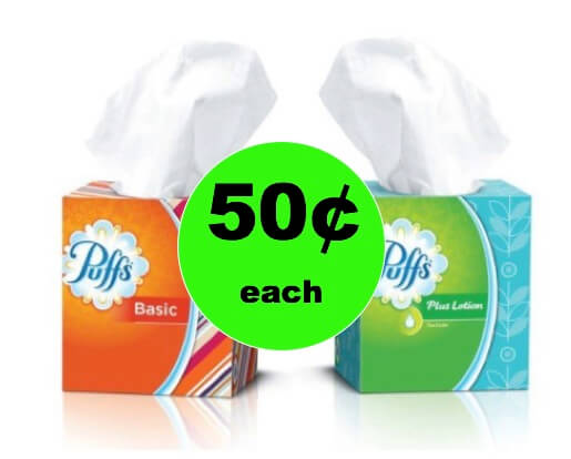 Keep the Sniffles Away! Pick Up Puffs Tissues Only 50¢ Each at Winn Dixie! (Ends 1/9)