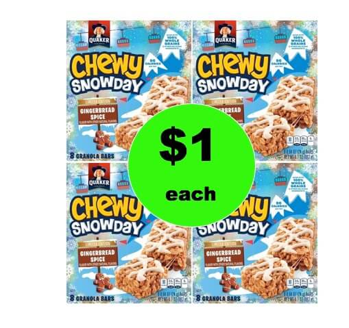 School Lunch Win! Get $1 Quaker Chewy Gingerbread Spice Bars at Target! (Ends 1/7)