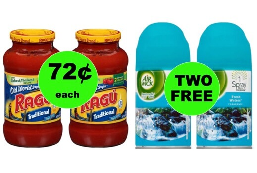Fox Deal of the Week: FREE Airwick Refills and CHEAP Ragu Pasta Sauce!
