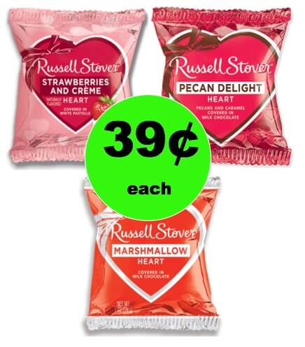 CHEAP Sweets for Your Sweet with 39¢ Russell Stover Valentine Candy at Walgreens! (Ends 1/27)