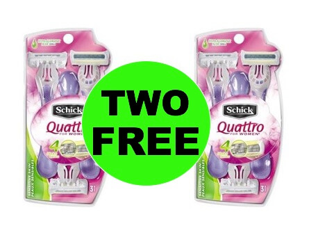 TWO (2!) FREE Schick Disposable Razors at Walmart! (Ends 1/28)