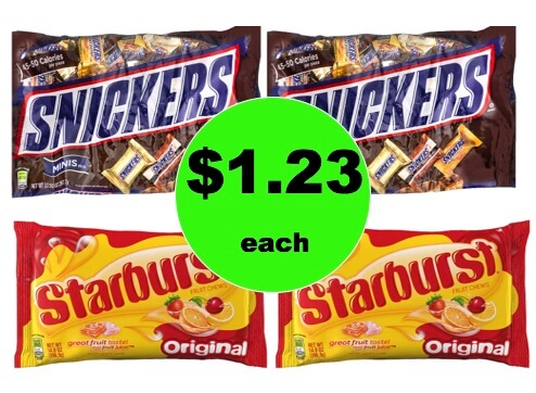 Great for Movie Night! Pick Up $1.23 Mars & Starburst Candy Bags at Walgreens! (1/21 – 1/27)