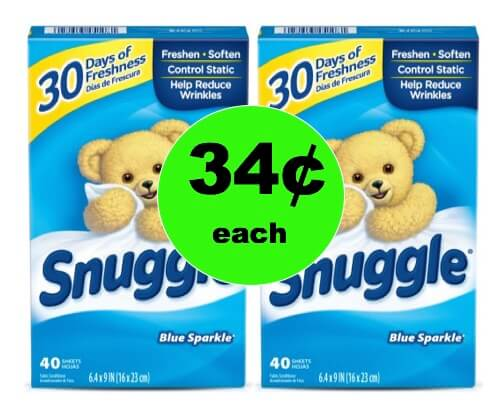 Snuggle Up to 34¢ Snuggle Dryer Sheets at Walmart! (Ends 1/27)