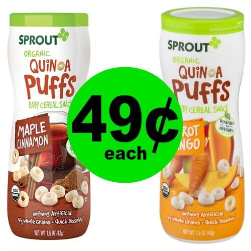 ? 49¢ Sprout Organic Puffs at Publix (Save 84% Off)! (Ends 7/25)