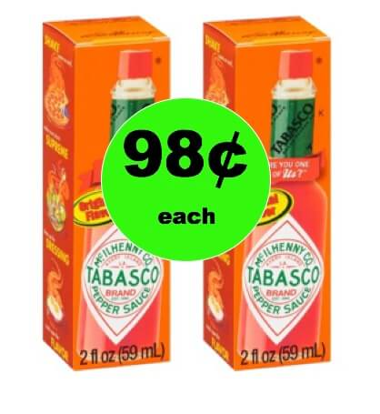 Pour on the Heat with 98¢ Tabasco Sauce at Walmart! Print NOW!