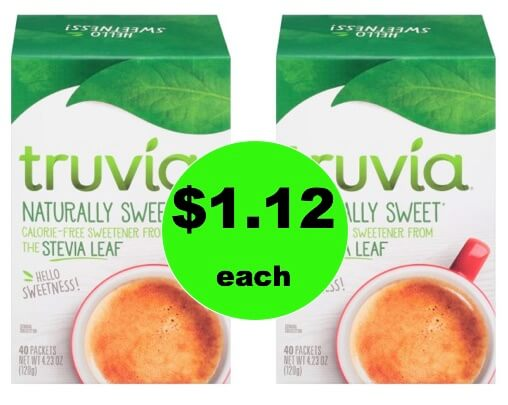 My Favorite! Get $1.12 Truvia Natural Sweetener at Walmart! PRINT Now!