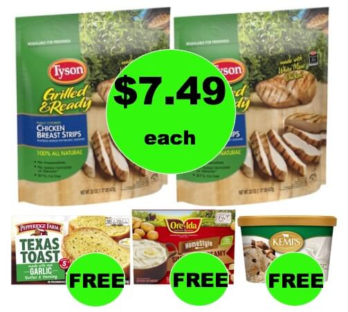 Winn Dixie Meal Deal: Buy (2) Tyson Grilled & Ready Chicken for $14.99, Get Garlic Toast, Mashed Potatoes & Frozen Yogurt FREE! (1/17-1/23)