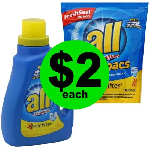 Wash for Cheap with $2 All Laundry Detergent, Pacs or Booster at Publix! (Ends 3/6 or 3/7)