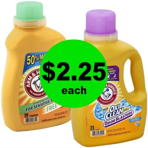 Wash that Laundry for Cheap! Arm & Hammer Laundry Detergent are $2.25 Each at Publix! (Ends 2/6 or 2/7)