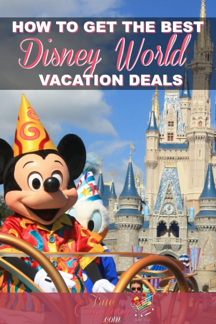 Disney World Vacation Deals DO exist, you just have to know where to find them. I\'ve got a super simple way to find the deals without doing any work. #disneyworldorlando #disneyvacation #savingmoney #truecouponing