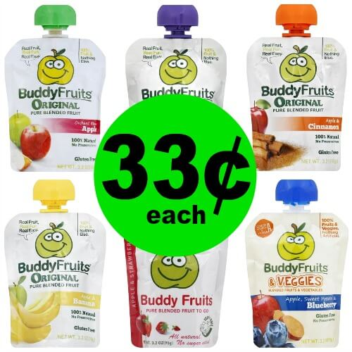 Don't Miss Out On Buddy Fruits Pure Blended Fruit Pouches for 33¢ Each at Publix! (Ends 2/6 or 2/7)