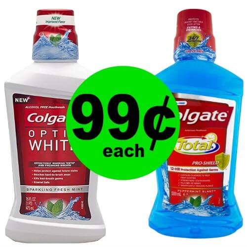Colgate Total or Optic White Mouthwash is ONLY 99¢ Each at CVS! (2/11 – 2/17)