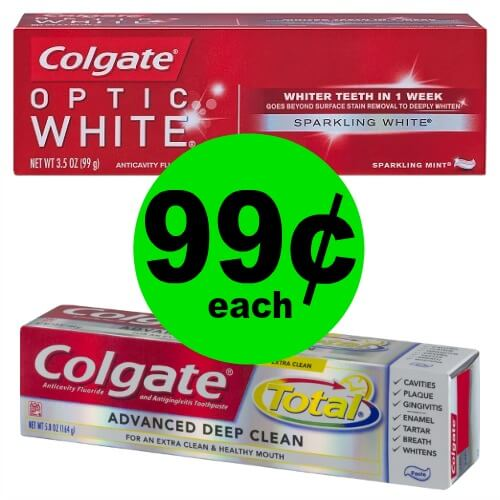 Stock Up on 99¢ Colgate Total, Optic White, Enamel Health or Sensitive Toothpaste at CVS! (2/25 – 3/3)