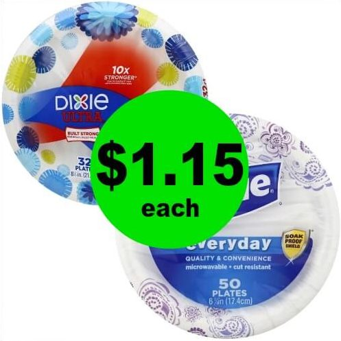 Skip Doing the Dishes This Week! Pick Up Dixie Plates for $1.15 Each at Publix! (Ends 2/6 or 2/7)