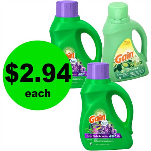 Get Great Smelling, Clean Laundry with $2.94 Gain Detergent at CVS! (Ends 2/24)