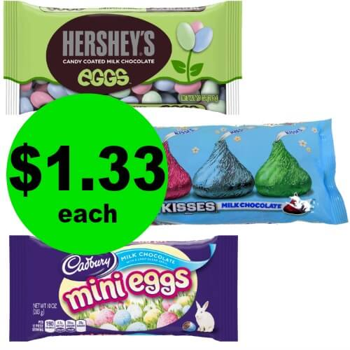 Enjoy Easter with $1.33 Hershey's Easter Kisses, Eggs, Miniatures or Cadbury Mini Eggs Bags at CVS! (Ends 3/3)