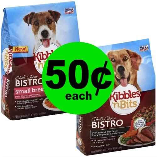 Feed Your Pup Kibbles 'n Bits Dog Food for 50¢ Each at Publix! (2/21-2/27 or 2/22-2/28)
