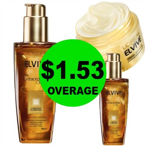 THREE (3!) FREE + $1.53 OVERAGE On L'Oreal Elvive Treatments at CVS! (Ends 2/17)