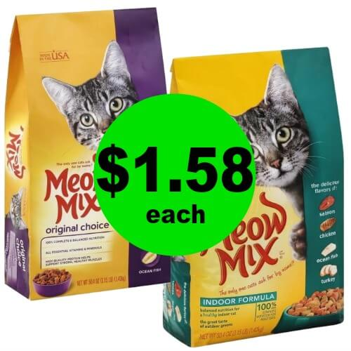 "Have Your Wallet Saying ""MEOW""! Meow Mix Dry Cat Food Bags are $1.58 Each at Publix! (Ends 2/20 or 2/21)"