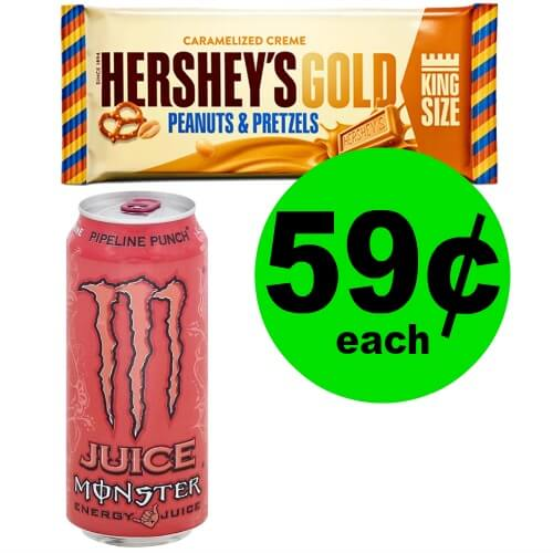 Energy & Gold! Monster & Hershey's Gold Bar Singles Only 59¢ Each at Publix! (Ends 2/16)