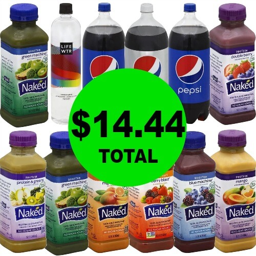 For Only $14.44, Get (12) Bottles of Naked Juice Smoothies, Pepsi 2 Liters & LifeWtr 1 Liter at Publix! (2/25 to 2/27 or 2/28)