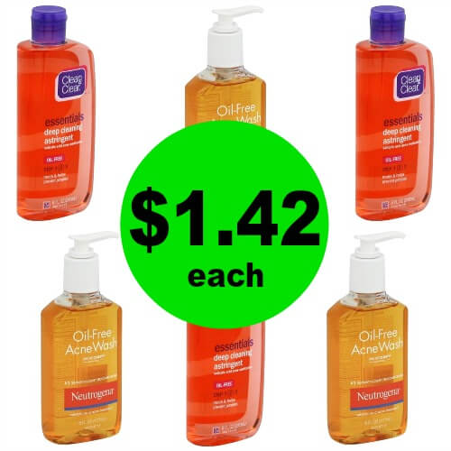 Snag Clean & Clear Astringent & Neutrogena Oil-Free Acne Wash for $1.42 Each (After Rebates) at Publix! (Ends 2/28)